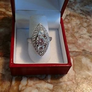 Sterling simulated diamond anniversary ring 8